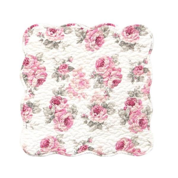 シートクッション ルーシー ローズ 薔薇 花柄 かわいい ピンク 座席シート 滑り止め おしゃれ 薔薇雑貨 キルト|barazakkawithheart