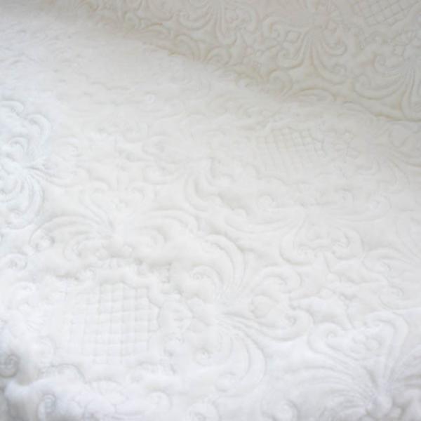 マルチカバー キルト 約200cm×250cm ホワイト ベージュ クラシックフランネル 長方形 シンプル おしゃれ ナチュラル シャビー|barazakkawithheart|04