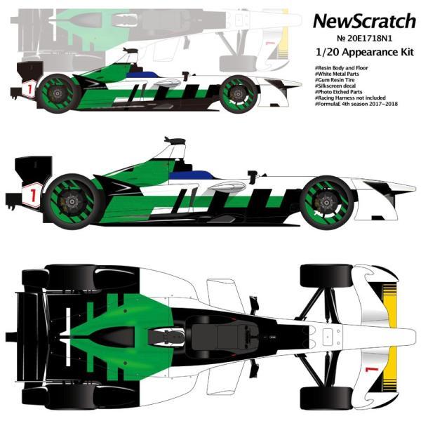1/20 フォーミュラE 2017-18 #01 チャンピオンマシン【NewScratch 20E1718N1KIT】|barchetta