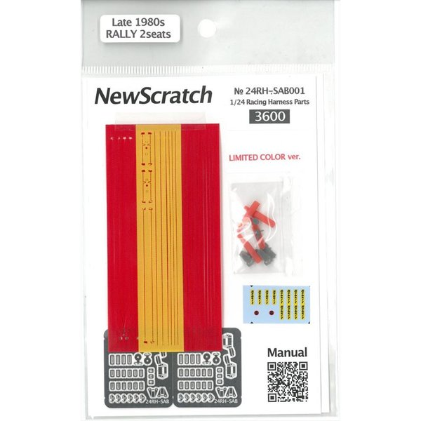 1/24 ラリーカー '80Late対応 シートベルトセット【NewScratch 24rh-sab001】|barchetta|02