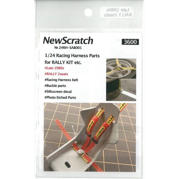 1/24 ラリーカー '80Late対応 シートベルトセット【NewScratch 24rh-sab001】|barchetta|03