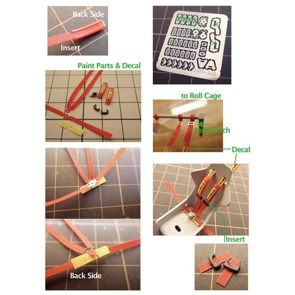 1/24 ラリーカー '80Late対応 シートベルトセット【NewScratch 24rh-sab001】|barchetta|10