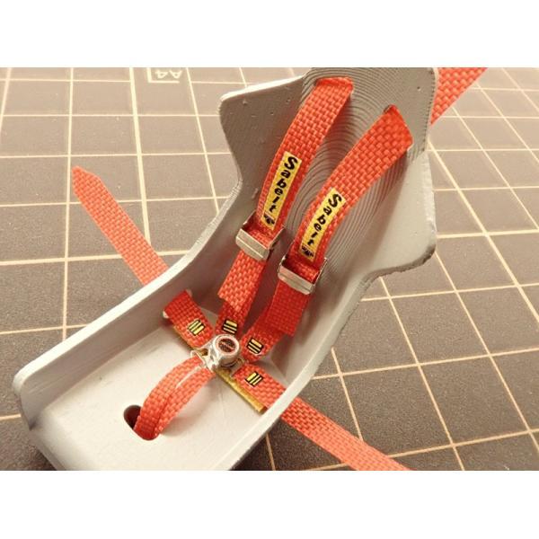1/24 ラリーカー '90Late対応 シートベルトセット【NewScratch 24rh-sab003】 barchetta 04