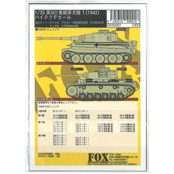 1/35 GERMAN 501st H. TANK Btn. #1 1942【FOX MODELS D035001】|barchetta|03