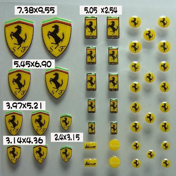 フェラーリ エンブレム ステッカー(Ferrari Embulem Sticker 1 立体 3D)|barchetta|02