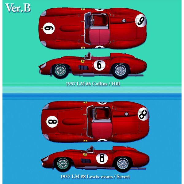フェラーリ 335S 1957 LM #6 / 315S #8【MFH 1/24 K692 Ver.B】|barchetta