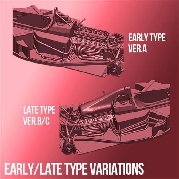 フェラーリ F1-89(640) Ver.B : Late Type※スポンサーデカール付き【モデルファクトリーヒロ 1/12 K695】|barchetta|09