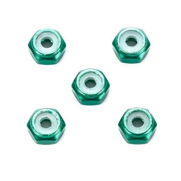 2mmアルミロックナット(グリーン5個)【タミヤ ミニ四駆特別企画 ITEM95424】|barchetta|02
