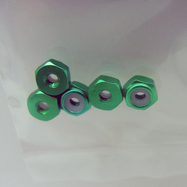 2mmアルミロックナット(グリーン5個)【タミヤ ミニ四駆特別企画 ITEM95424】|barchetta|03
