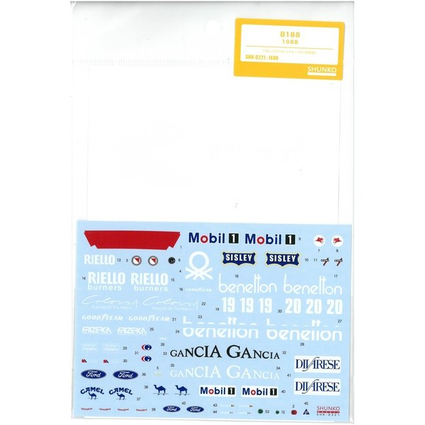 1/20 B188  1988 (T社1/20ベネトンフォードB188対応)|barchetta