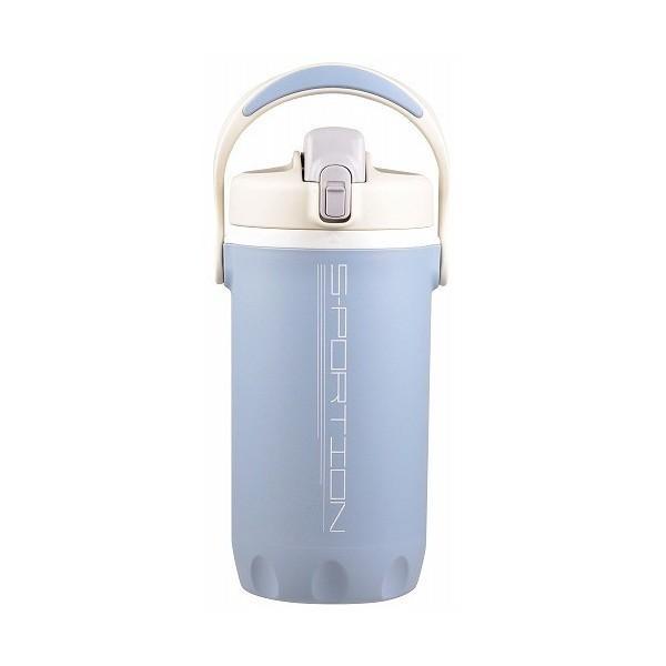 水筒 直飲み 大容量 スポーション ワンタッチ ローダージャグ 2L 軽量 ブルー×グレー D-2770 ボトル  保冷 スポーツジャグ 水分補給 部活 パール金属