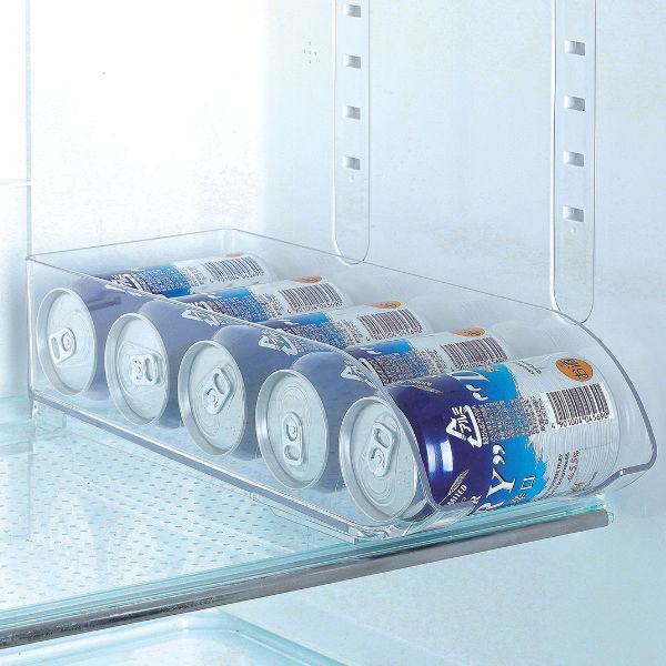 冷蔵庫 収納 ケース 冷蔵室トレー 350ml缶用  スキット HB-5566 パール金属 限定数量 缶ビール 缶ジュース 透明 トレイ