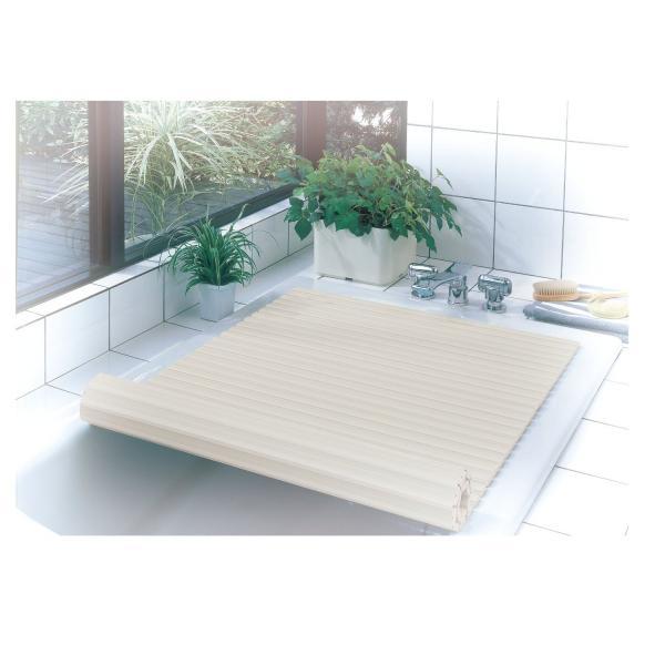 風呂蓋 軽い 同梱不可 シンプルピュア シャッター式風呂ふた M11 70×110cm アイボリー  HB-663 日本製 バス用品 コンパクト