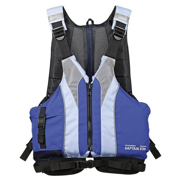 ベストフローツ ブルー MC-2512 大人用 ライフジャケット 救命胴衣 安全 釣り カヌー 海 川遊び アウトドア キャプテンスタッグ 防災
