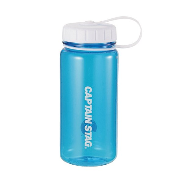 水筒 ウォーターボトル 550ml ライス目盛り付 ブルー UE-3386 キャプテンスタッグ クリアボトル 米 3.5合 キャンプ