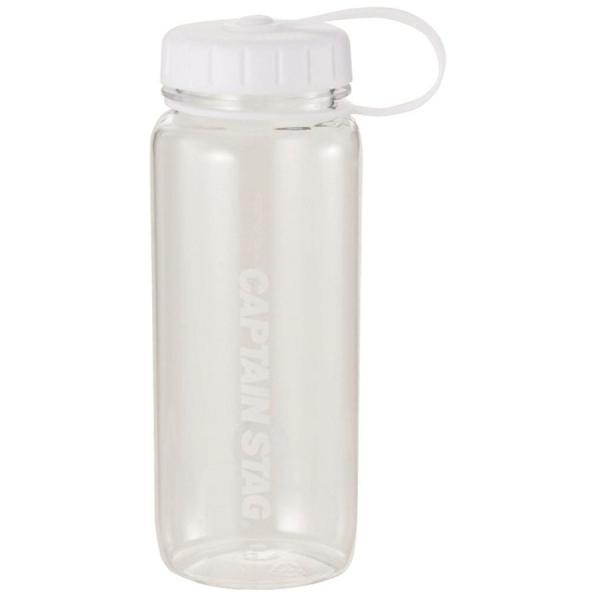 水筒 ウォーターボトル 650ml ライス目盛り付 ホワイト UE-3390 キャプテンスタッグ クリアボトル 容器 米 4.5合 キャンプ