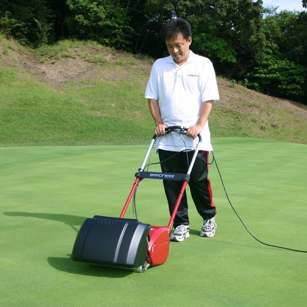 芝刈り機 バロネス コード付自走式電動芝刈り機 LM12MH 刈幅30cm 家庭用リール式/送料無料/|baroness|02