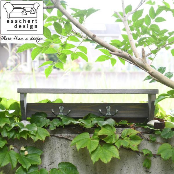 Esschert Design 木製ガーデンツールハンガーラック
