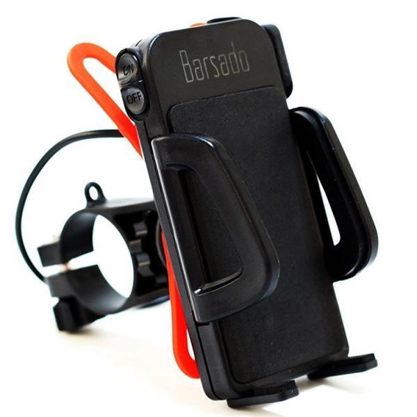 バイク スマホホルダー スマホ 充電 ホルダー スマホスタンド 防水 USB 電源 スマートフォン ON/OFFスイッチ付属|barsado2|02
