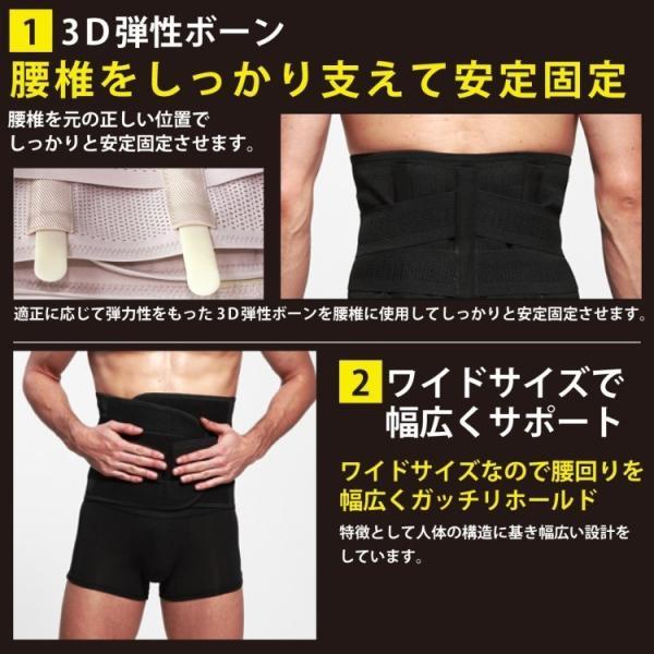 ぎっくり腰 椎間板ヘルニア コルセット 腰痛 腰痛ベルト 姿勢矯正 ベルト 男女兼用 barsado2 02