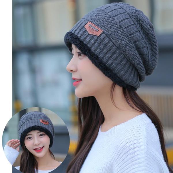 ネックウォーマー ニット帽  2点セット メンズ レディース 帽子 冬 裏起毛 男女兼用 ニット帽子 ニットキャップ 送料無料|barsado2|11