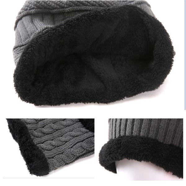 ネックウォーマー ニット帽  2点セット メンズ レディース 帽子 冬 裏起毛 男女兼用 ニット帽子 ニットキャップ 送料無料|barsado2|12