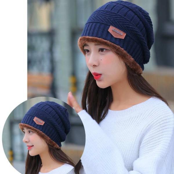 ネックウォーマー ニット帽  2点セット メンズ レディース 帽子 冬 裏起毛 男女兼用 ニット帽子 ニットキャップ 送料無料|barsado2|17