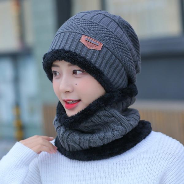 ネックウォーマー ニット帽  2点セット メンズ レディース 帽子 冬 裏起毛 男女兼用 ニット帽子 ニットキャップ 送料無料|barsado2|08