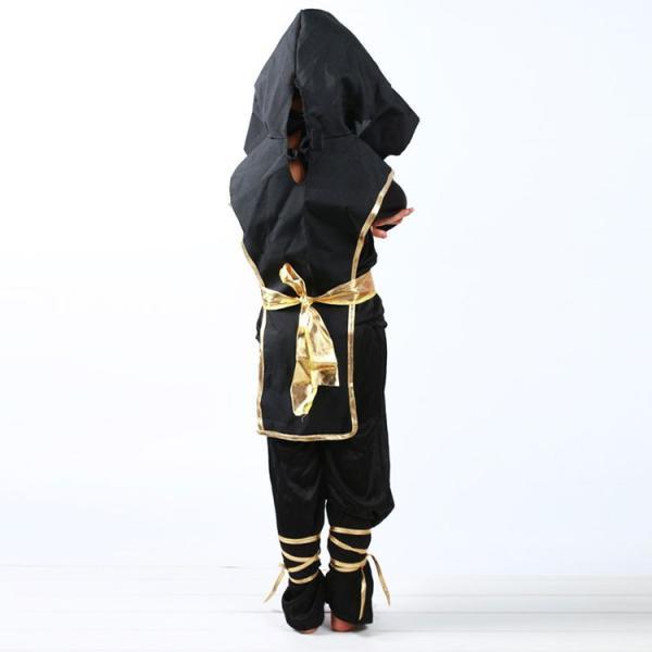 ハロウィン コスプレ 衣装 子供 男の子 仮装 キッズ 子供用 忍者 コスチューム 上下セット サイズ 110 120 130 140|barsado2|06