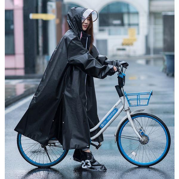 魔法レインコート レディース メンズ ロング 自転車 バイク アウトドア ツバ付き おしゃれ 大きいサイズ ウインドブレーカー かっぱ 通勤 通学 合羽 梅雨対策|barsado2|13
