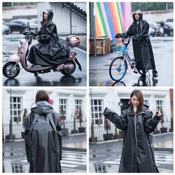魔法レインコート レディース メンズ ロング 自転車 バイク アウトドア ツバ付き おしゃれ 大きいサイズ ウインドブレーカー かっぱ 通勤 通学 合羽 梅雨対策|barsado2|08