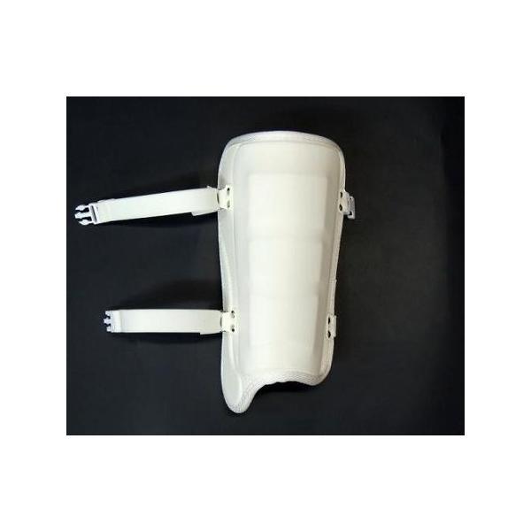 ベルガード BELGARD  FG620  ホワイト 学生野球対応 プロモデル 合皮巻きタイプ 甲なし レッグガード フットガード 高校野球 白