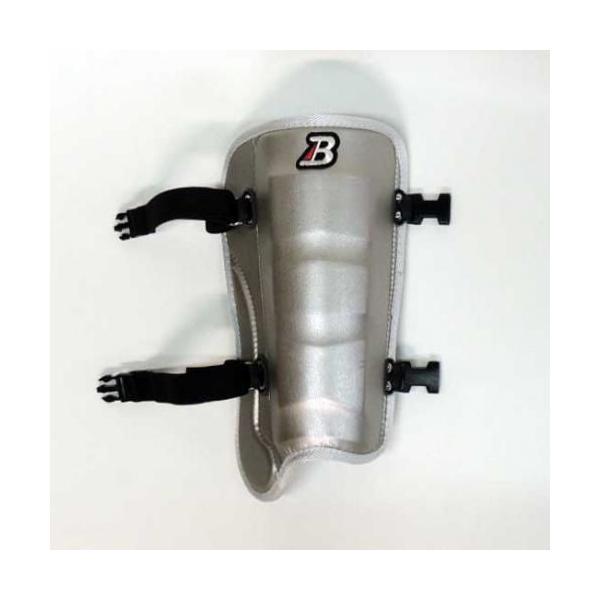ベルガード BELGARD プロモデル フットガード 甲なし シルバー 合皮巻きタイプ FG620 レッグガード すね