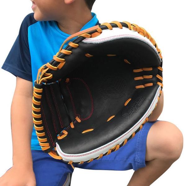 型付け無料 久保田スラッガー 限定 ジュニア用 キャッチャーミット 兼 一般用 トレーニングミット LT17-TRC ジュニア 少年野球 あすつく|baseballparkstandin|12