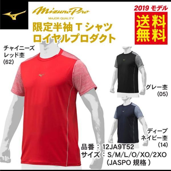 2019モデル ミズノプロ 限定 Tシャツ 半袖 夏用 メンズ 12JA9T52 スポーツウェア 大人 大きいサイズ mizuno pro|baseballparkstandin