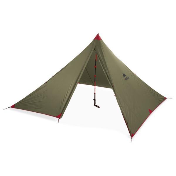 MSRフロントレンジ/キャンプ登山4人用オールシーズンテントウルトラライトタープシェルターフロアレスワンポール非自立式