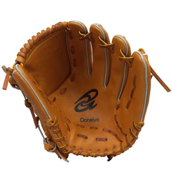 あすつく 限定 ドナイヤ 野球 軟式 グラブ 投手用 中 ピッチャー用 サイズ6 ゴムソフト使用可 Donaiya DMNP don18fw|baseman|02