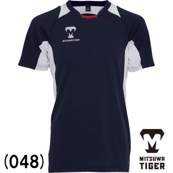 あすつく 美津和タイガー 野球 Tシャツ BBシャツ 半袖 丸首 吸汗 速乾 カラーブロックシャツ KSREYS-001 mit18ss wear|baseman|02