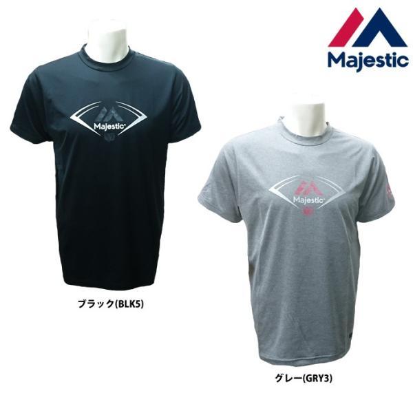あすつく マジェスティック 野球用 半袖 Tシャツ 吸汗速乾 Authentic XM01-MAJ-0014 majtsale|baseman
