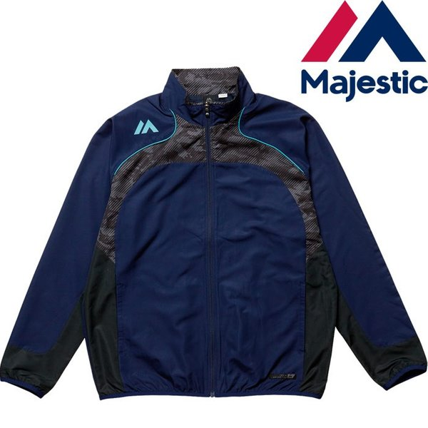 あすつく マジェスティック Majestic ウィンドジャケット 裏メッシュ XM23-MAJ-0016 maj17ss 1617sale|baseman|02