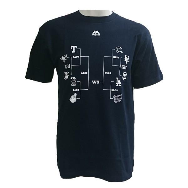 あすつく マジェスティック Tシャツ MLBポストシーズン出場球団ロゴ MM01-MLB-0291 1617sale|baseman