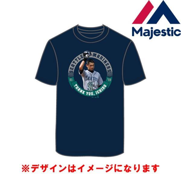 あすつく マジェスティック イチロー引退記念 Tシャツ マリナーズ 51 綿100% SEA MLB MM01-SM-901 maj19ss baseman 02