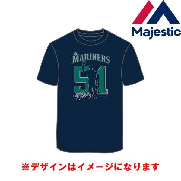 あすつく マジェスティック イチロー引退記念 Tシャツ マリナーズ 51 綿100% SEA MLB MM01-SM-901 maj19ss baseman 05