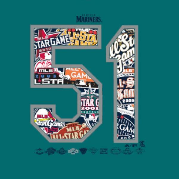 あすつく マジェスティック イチロー引退記念 Tシャツ マリナーズ 51 綿100% SEA MLB MM01-SM-901 maj19ss baseman 06