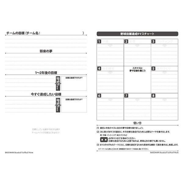 あすつく ベースマン BM 野球ノート 学童 小学校 高学年 中学生 stationery meeting18|baseman|02