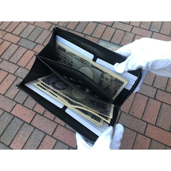 イタリア グイディ(GUIDI)社製フィオーレカーフのレザーL字ファスナー長財布/ロングウォレット bashamichi-imai 08