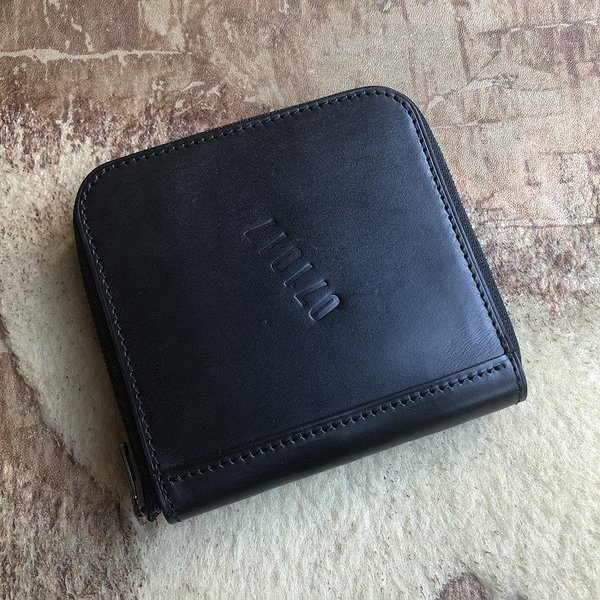 イタリア グイディ(GUIDI)社製フィオーレカーフのラウンドファスナーレザー二つ折り財布/ウォレット|bashamichi-imai
