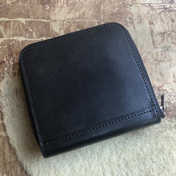 イタリア グイディ(GUIDI)社製フィオーレカーフのラウンドファスナーレザー二つ折り財布/ウォレット|bashamichi-imai|02