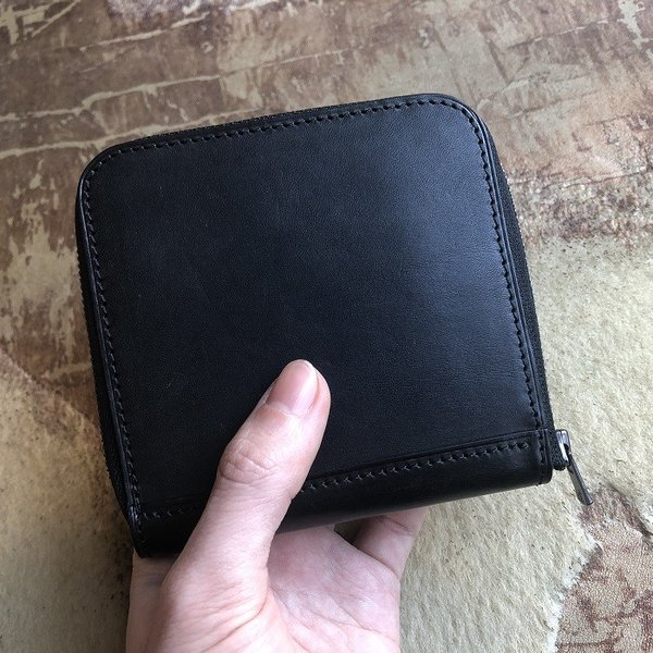 イタリア グイディ(GUIDI)社製フィオーレカーフのラウンドファスナーレザー二つ折り財布/ウォレット|bashamichi-imai|11