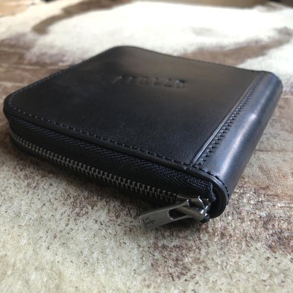イタリア グイディ(GUIDI)社製フィオーレカーフのラウンドファスナーレザー二つ折り財布/ウォレット|bashamichi-imai|03